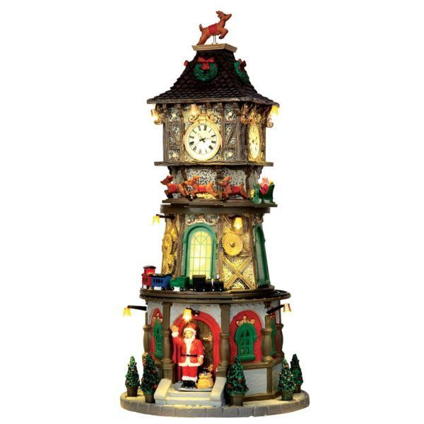 christmas clock tower 45735 lemax