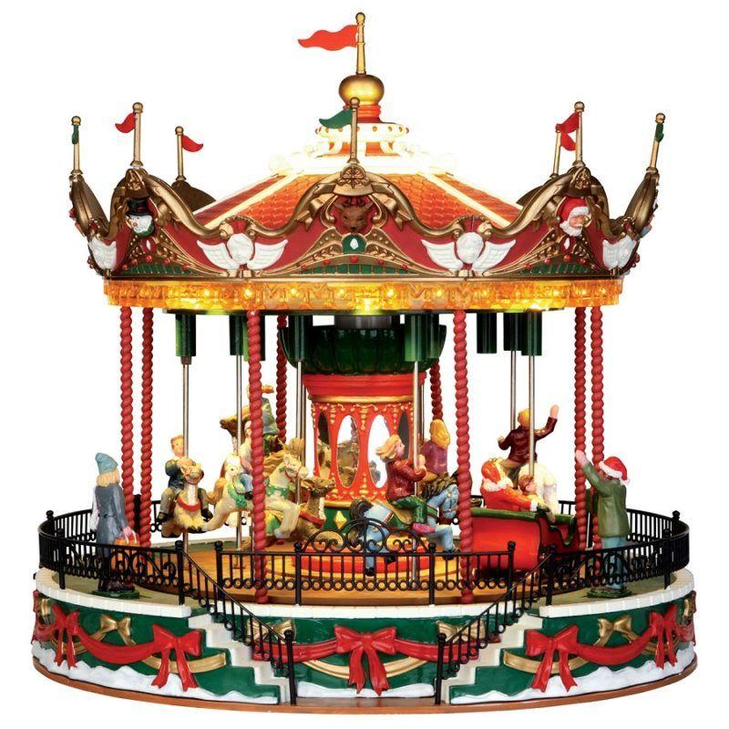 santa carousel giostra cavalli 34682 lemax