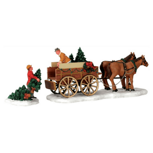 christmas tree wagon 43451 collezione harvest crossing