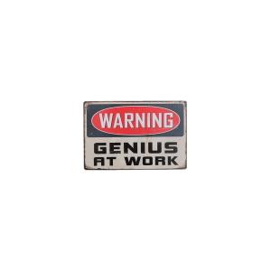 warning genius insegna 24727