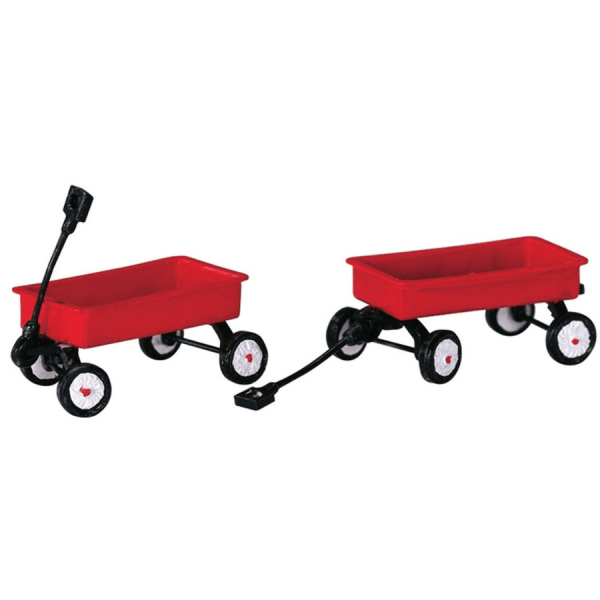 red wagons lemax 44175