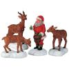santa feeds rendeer lemax 52146