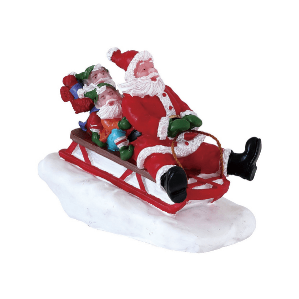 sledding with santa 72549 lemax