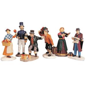townsfolk figurines lemax 92355