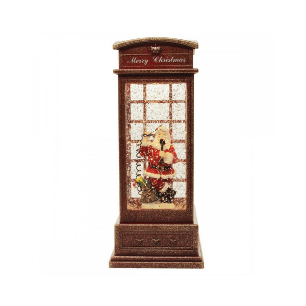 telephone box santa carillon led 182347