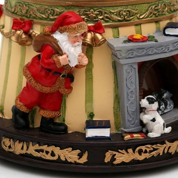 snowball fireplace carillon natale snowglobe 50 1363