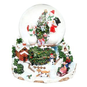 snowball snowmen carillon snowglobe 501201