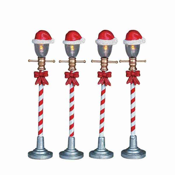 santa hat street lamp 64472 lemax