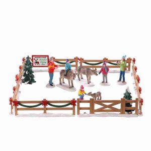 reindeer petting zoo 93434 lemax