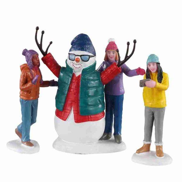 snowman selfie 02940 lemax