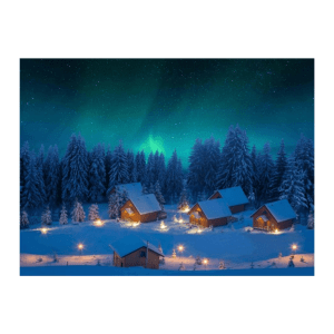 poster tela fo aurora boreale mycl04