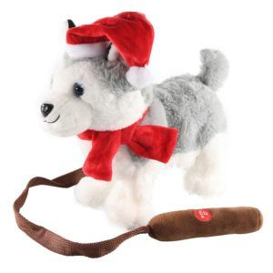 peluche christmas husky dog walking 23099914