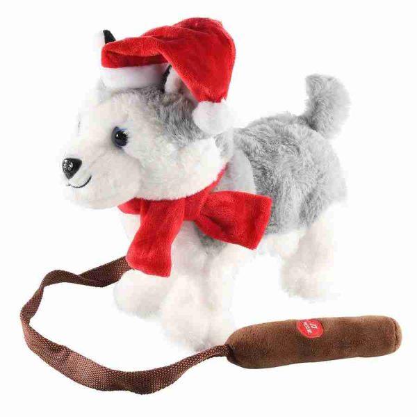 peluche christmas husky dog walking 23099914