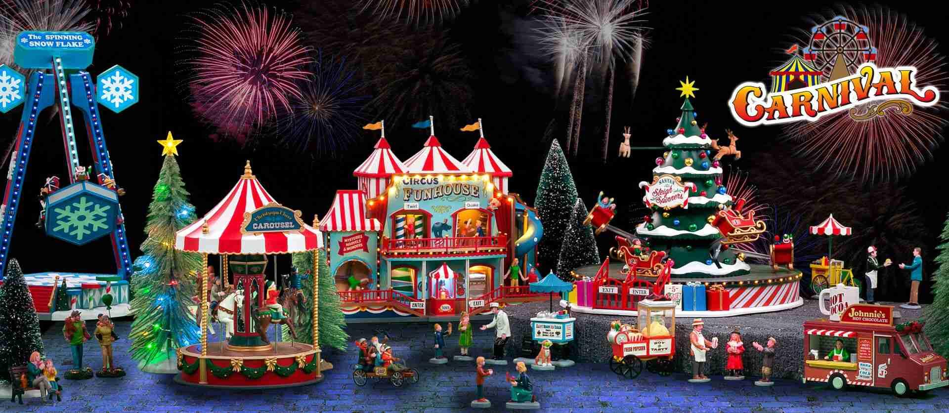 collezione carnival villaggio lemax 2021 natale