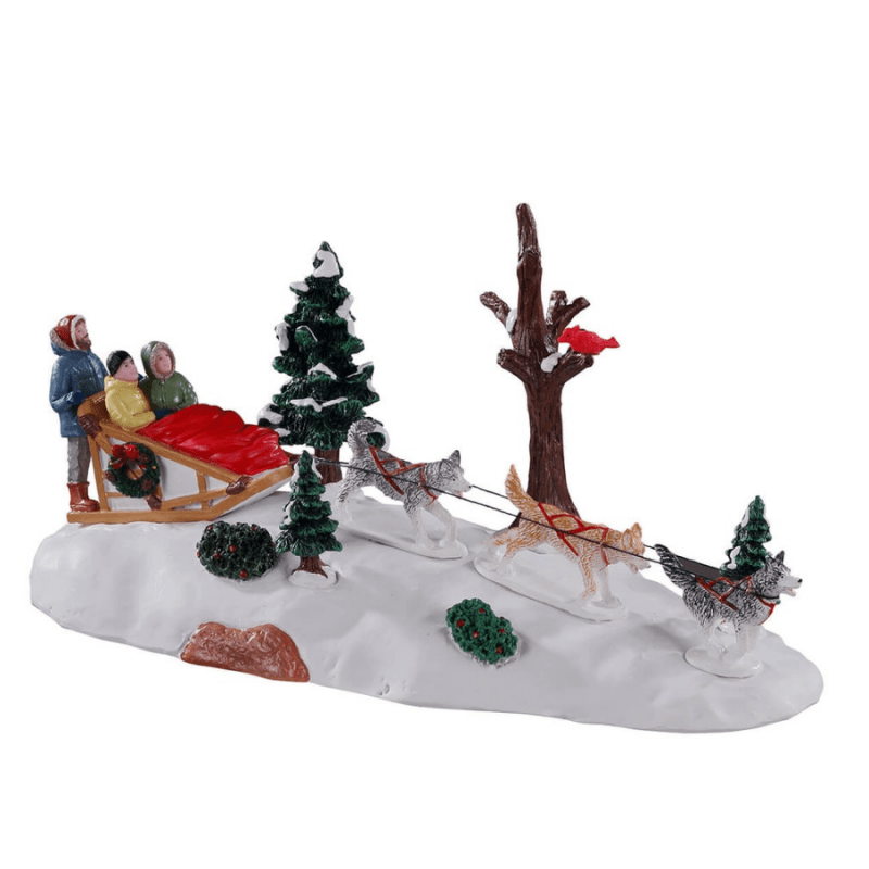 Dogs Sledding Afternoon 13557 lemax