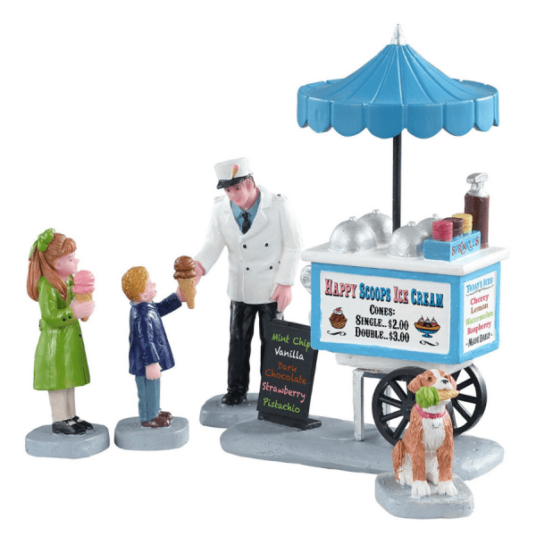 Happy Scoops Ice Cream Cart 12037 lemax