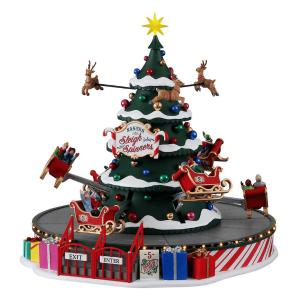 Santa's Sleigh Spinners 14833 Lemax