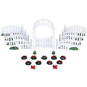 Arbor & Picket Fences With Decorations 04233