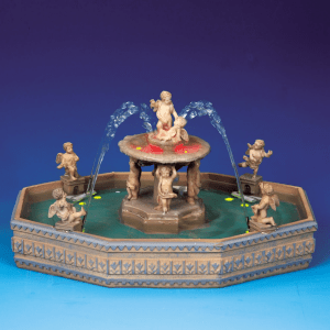 Lighted Village Square Fountain 14663 lemax